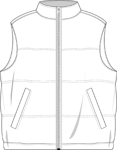 Bodywarmer technical drawing