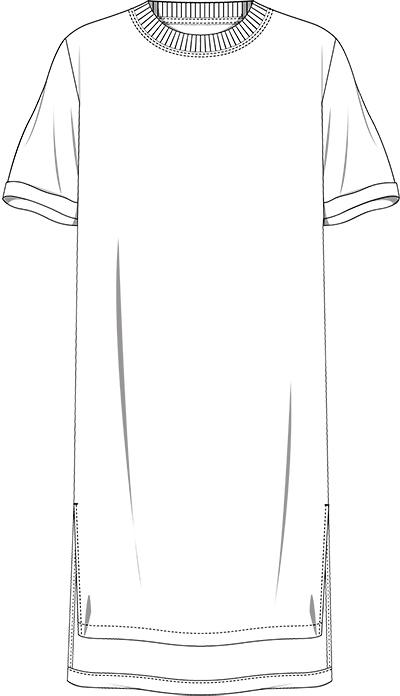 Tunic technical drawing